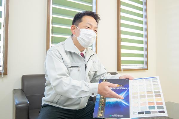 訪問スタッフのマスクの着用、除菌
