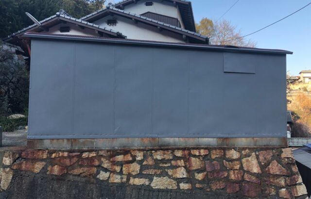 ガレージ 外壁塗装 金属塗装 玉野市 H様