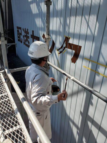 玉野市 外壁塗装 文字入れ