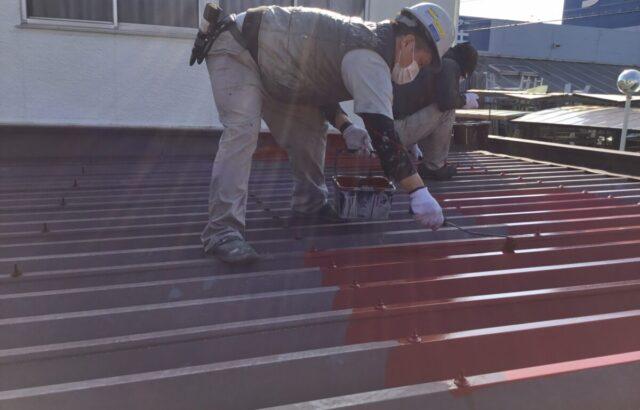 玉野市 ガレージ 屋根 外壁塗装