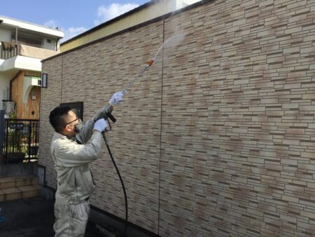 玉野市 ガレージ 屋根 ・ 外壁塗装