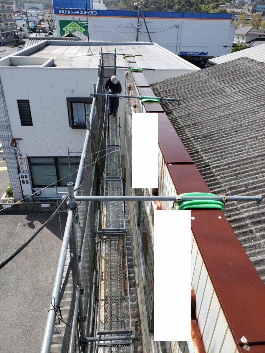 玉野市 外壁塗装 足場組立 高圧洗浄 H様邸